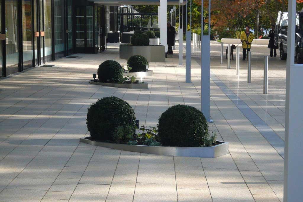 Buchbaumkugel Stahlkante Einfassung Reinfeld