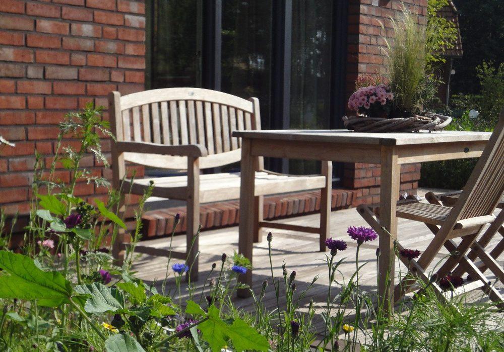 Terrasse aus Holz